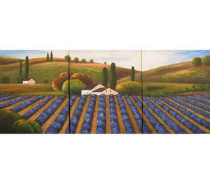 Lavender Field, Landscape Painting, Canvas Painting, Wall Art, Landscape Art, Wall Hanging