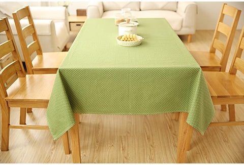 Small Dots Red / Green Rectangle and Round Tablecloth for Dining Table, Tea Table, Cabinit, Bedstand
