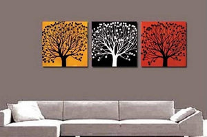 Tree of Life Painting, Abstract Painting, Large Oil Painting, Living Room Wall Art, Modern Art, 3 Piece Wall Art, Huge Art