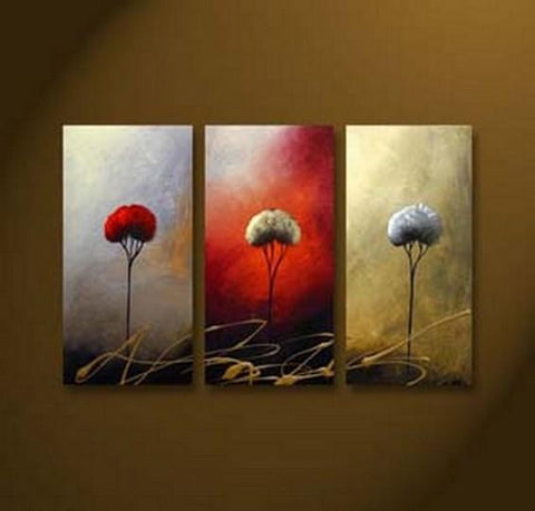 Landscape Art, Tree of Life Painting, Canvas Painting, Abstract Painting, Large Painting, Bedroom Wall Art, Contemporary Art, 3 Piece Canvas Art