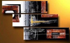 Black Wall Art, Bedroom Wall Art, Canvas Painting, Abstract Art, Acrylic Art, 3 Piece Wall Art - Art Painting Canvas