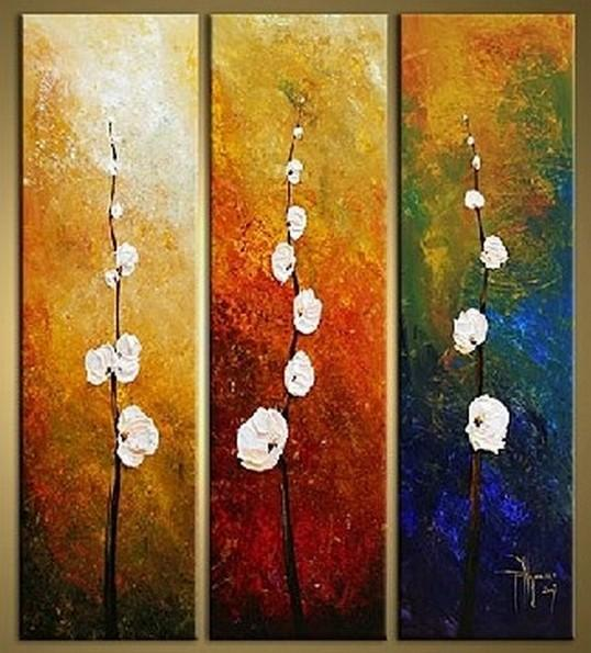 Flower Art Bedroom Wall Art Canvas Painting Abstract Art Large Art Wall Painting Abstract Painting Acrylic Art 3 Piece Wall Art Canvas Art