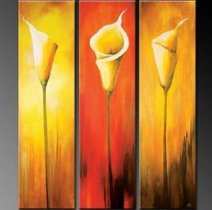 Calla Lily Art, Abstract Art, Flower Art, Canvas Painting, Bedroom Wall Art, Large Art, Wall Painting, Abstract Painting, Acrylic Art, 3 Piece Wall Art, Canvas Art - Art Painting Canvas