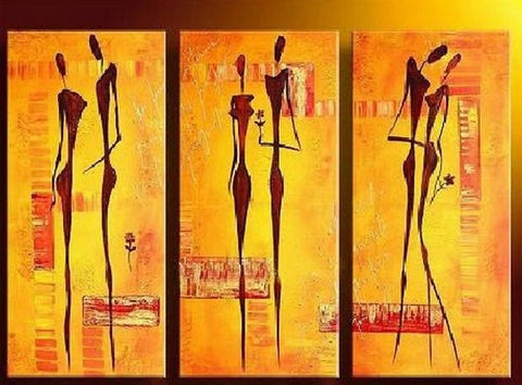 Wall Painting, Abtract Figure Art, Bedroom Wall Art, Canvas Painting, Abstract Art Painting, Acrylic Art, 3 Piece Wall Art