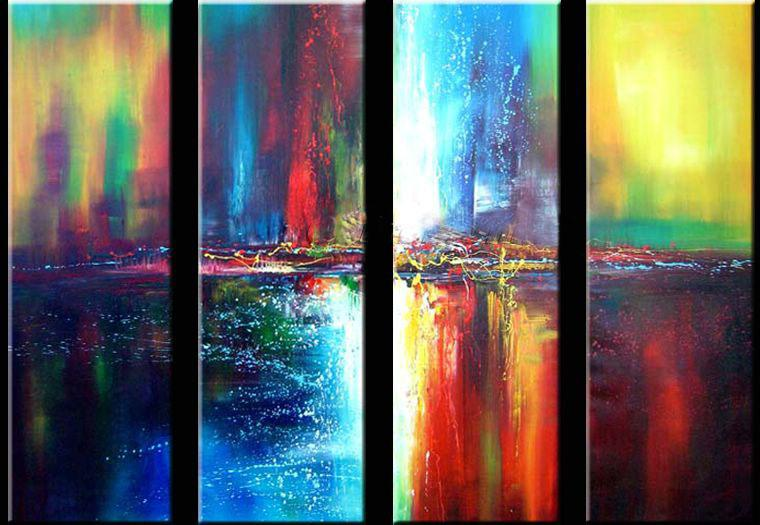 Wall Painting, Acrylic Art, Large Art, Abstract Wall Art, Ready to Hang, Modern Wall Art, Abstract Art, Canvas Painting, Abstract Painting, 4 Piece Wall Art