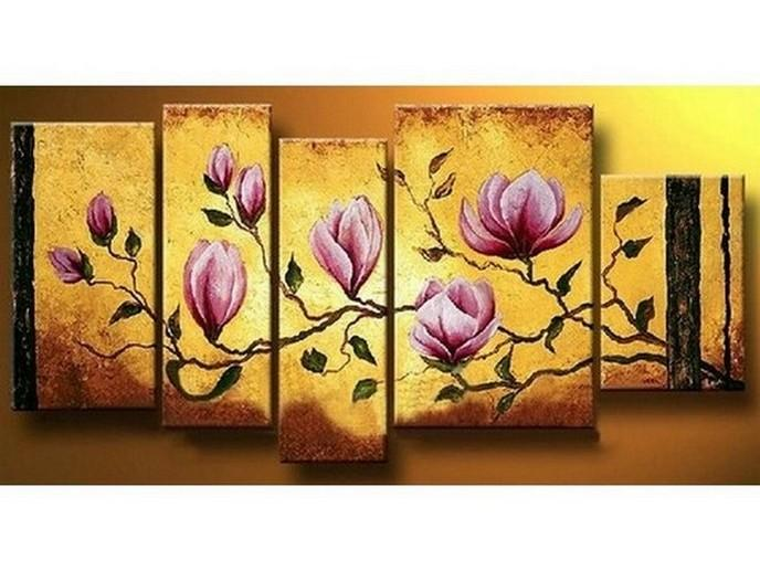 Living Room Wall Decor, Flower Painting, Contemporary Art, Art on Canvas, Extra Large Painting, Canvas Wall Art, Abstract Painting