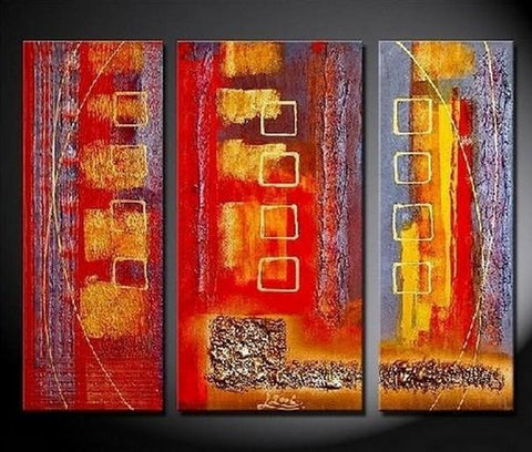 Bedroom Wall Art, Red Abstract Painting, Large Painting, Modern Art, Art on Canvas, Painting for Sale - Art Painting Canvas