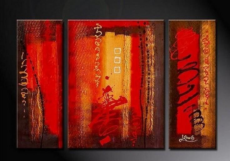Abstract Art, Red Abstract Painting, Bedroom Wall Art, Large Painting, Living Room Wall Art, Modern Art, Large Wall Art, Abstract Painting, Art on Canvas - Art Painting Canvas