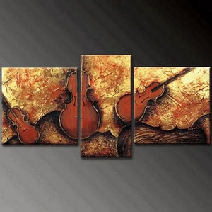 Extra Large Painting, Abstract Painting, Living Room Violin Wall Art, Modern Art, Acrylic Art, Painting for Sale