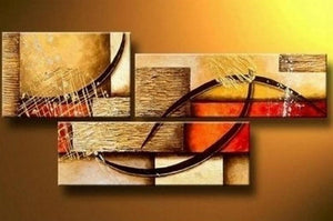 Canvas Painting, Wall Art, Large Painting, Living Room Wall Art, Modern Art, 3 Piece Wall Art, Abstract Painting, Home Art Decor