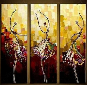 Painting on Sale, Canvas Art, Ballet Dancer Art, Abstract Art Painting, Dining Room Wall Art, Art on Canvas, Modern Art, Contemporary Art