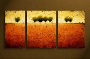 3 Piece Canvas Art, Tree of Life Art Painting, Art on Canvas, Landscape Painting - Art Painting Canvas