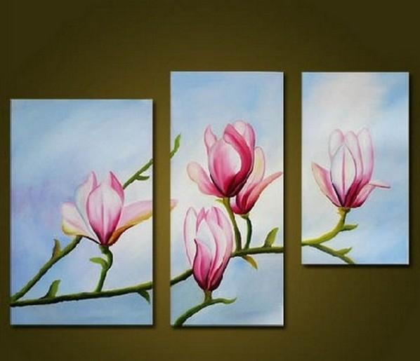 Canvas Art, Wall Art Decor, Floral Art Painting, Dining Room Wall Art, Art on Canvas, Modern Art, Flower Painting - Art Painting Canvas