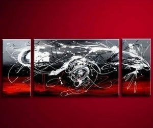 Black and Red Abstract Art, Living Room Wall Art, Modern Art, Living Room Wall Art, Painting for Sale - Art Painting Canvas