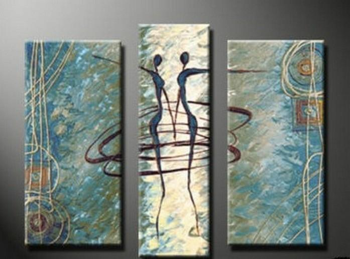 Abstract Painting, Dancing Figure Abstract Art, Living Room Wall Art, Modern Art, Living Room Wall Art, Painting for Sale - Art Painting Canvas