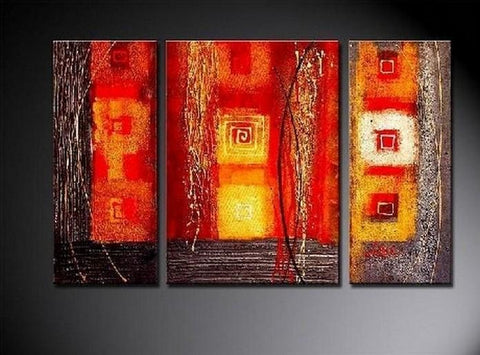 Red Abstract Painting, Bedroom Wall Art, Large Painting, Living Room Wall Art, Modern Art, Abstract Painting, Art on Canvas