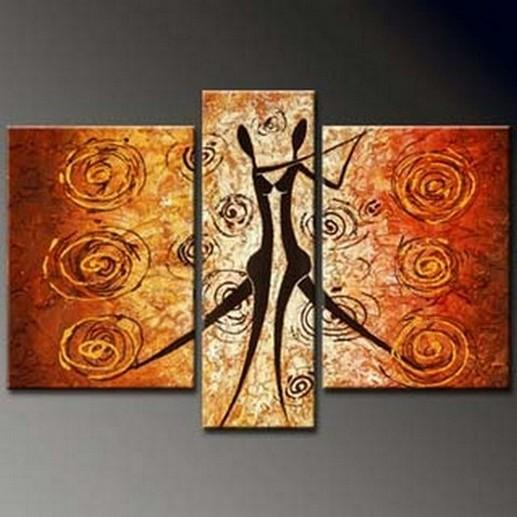 Dancing Figure Abstract Painting, Bedroom Wall Art, Large Painting, Living Room Wall Art, Large Abstract Painting, Art on Canvas