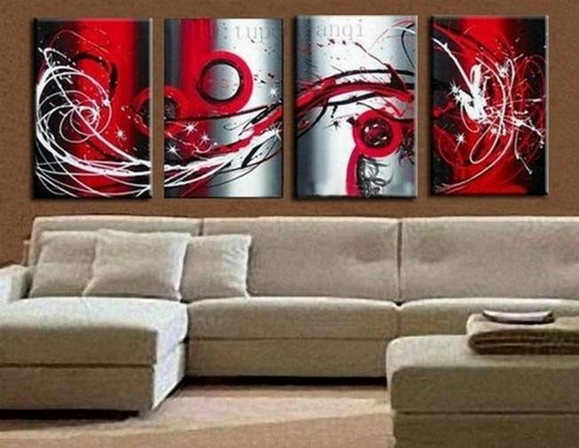 Abstract Art, Red Abstract Painting, Living Room Wall Art, Modern Art for Sale, Extra Large Wall Art, Wall Hanging