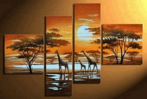 African Painting, Abstract Art, Sunset Painting, Extra Large Painting, Living Room Wall Art, Modern Art, Extra Large Wall Art, Contemporary Art, Modern Art Painting - Art Painting Canvas