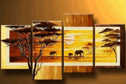 African Painting, Animal Painting, Extra Large Painting, Art Painting, Abstract Art, Living Room Wall Art, Modern Art, Extra Large Wall Art, Contemporary Art, Modern Art - Art Painting Canvas