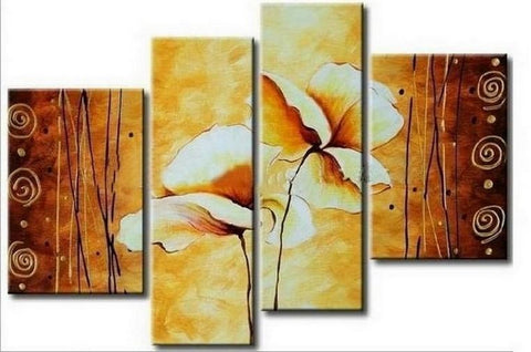 Abstract Art, Lotus Flower Painting, Large Painting, Abstract Painting, Dining Room Wall Art, Modern Art, Wall Art, Contemporary Art - Art Painting Canvas
