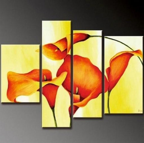 Abstract Painting, Bedroom Wall Art, Large Painting, Abstract Art, Calla Lily Flower Painting, Modern Art, Wall Art, Contemporary Art, Modern Art - Art Painting Canvas