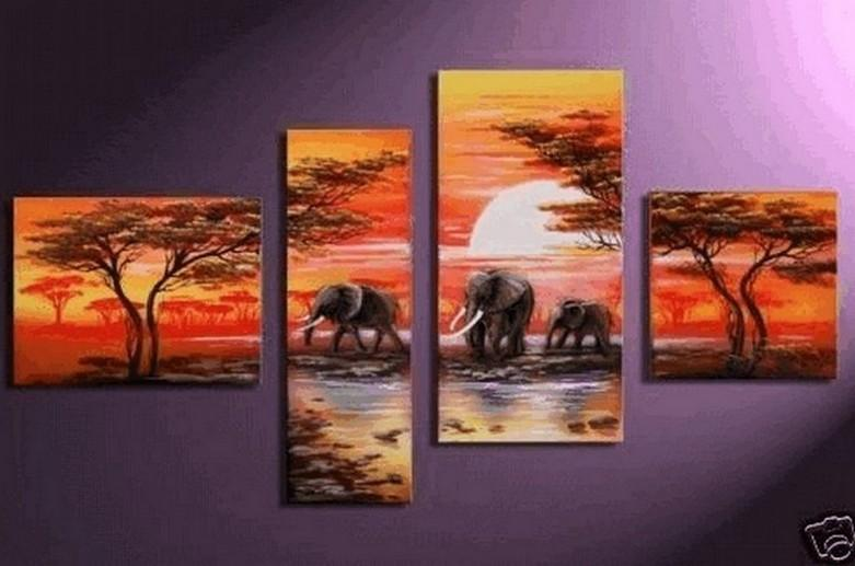 Canvas Wall Art, African Painting, Extra Large Painting, Abstract Painting, Living Room Wall Decor, Contemporary Art, Art on Canvas