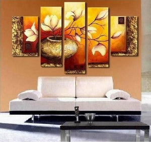 ... Living Room Wall Painting. Abstract Art, Abstract Painting, Flower  Painting, Heavy Texture Art, Canvas Painting,