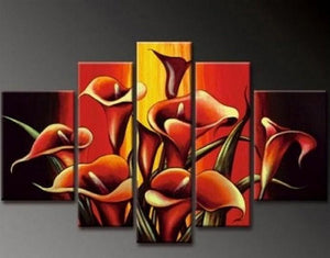 Flower Tree Painting Calla Lily Flower Abstract Art Abstract Painting Canvas Painting Wall Art Large Abstract Art Acrylic Art Bedroom Wall Art