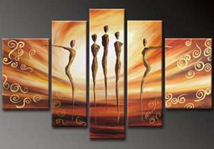 Canvas Art, 5 Piece Canvas Art, Dancing Figure Painting, Abstract Art, Canvas Painting, Wall Art, Large Art, Abstract Painting, Bedroom Wall Art