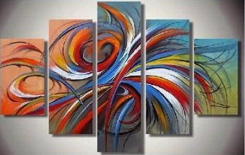 Abstract Art, Canvas Painting, Large Wall Art, 5 Piece Wall Art, Buy Painting Online - Art Painting Canvas