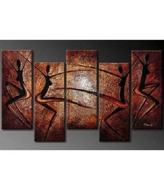 XL Wall Art, Abstract Art, Abstract Painting, Canvas Painting, Abstract Figure Painting, 5 Piece Wall Art, Huge Wall Art, Acrylic Art, Ready to Hang