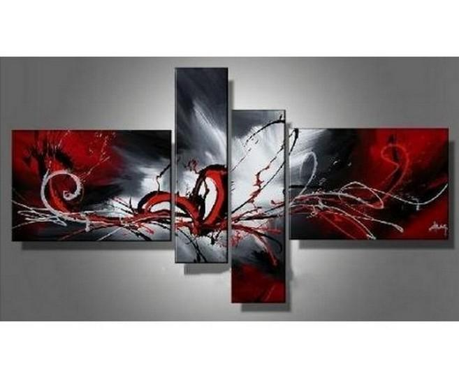 Canvas Art, Abstract Painting, Wall Art, Acrylic Art, 4 Panel Wall Art, Hand Painted Art, Group Painting for Sale - Art Painting Canvas