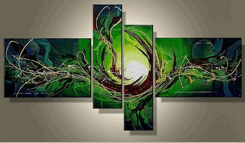 Large Wall Art, Abstract Art, Abstract Painting, 4 Piece Wall Art, Canvas Painting, Hand Painted Art, Group Painting