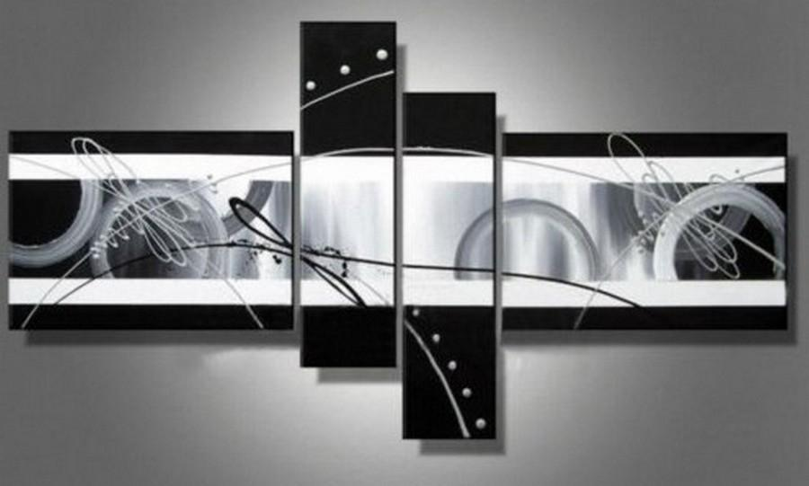 Abstract Lines Painting, Acrylic Art, 4 Panel Wall Art, Canvas Painting, 100% Hand Painted Art, Group Art - Art Painting Canvas