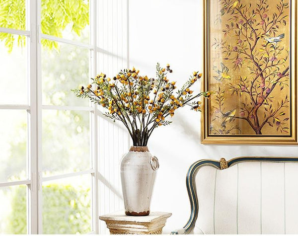 Artificial Botany Plants, 2 Branches of Artificial Chestnuts, Flower Arrangement - Art Painting Canvas