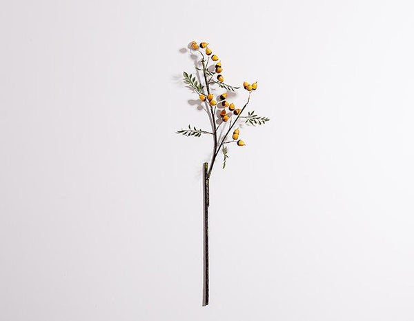 Artificial Botany Plants, 2 Branches of Artificial Chestnuts, Flower Arrangement
