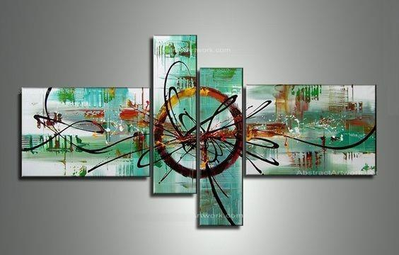 Abstract Oil Painting, Modern Canvas Painting, 4 Piece Canvas Art - Art Painting Canvas