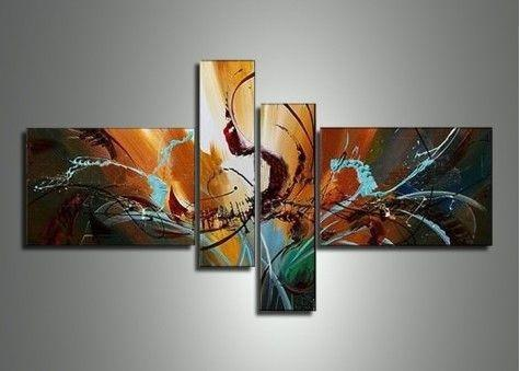 Modern Canvas Painting, Abstract Painting, 4 Piece Canvas Art, Abstract Art, Contemporary Wall Art