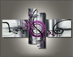 Abstract Painting, Modern Art, Canvas Painting, 4 Piece Abstract Art, Contemporary Wall Art for Sale
