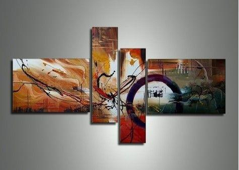 Canvas Painting, Abstract Painting, Modern Art, 4 Piece Abstract Art, Dining Room Wall Art for Sale - Art Painting Canvas