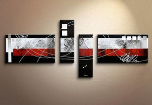Canvas Art, Large Abstract Art, Oil Painting, Black and Red Canvas Painting, Painting for Sale - Art Painting Canvas