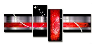 Abstract Art, Huge Wall Art, Extra Large Painting, Black and Red Wall Art, Art on Canvas, Buy Art Online - Art Painting Canvas