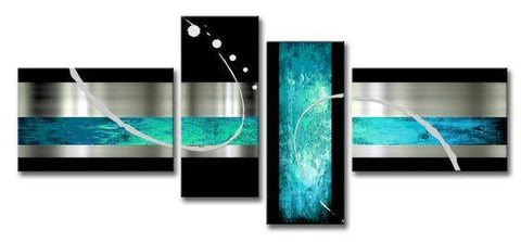 Abstract Painting, Extra Large Painting, Abstract Art, Black and Blue Wall Art, Modern Art, Living Room Wall Art, Modern Art - Art Painting Canvas