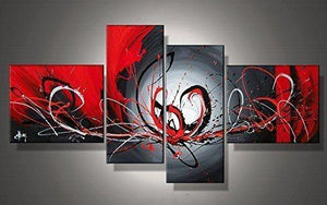 Abstract Art, Black and Red Wall Art, Living Room Wall Art, Buy Art Online