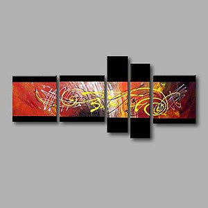 Canvas Painting, Group Painting, Large Wall Art, Abstract Painting, Huge Wall Art, Acrylic Art, Abstract Art, 5 Piece Wall Painting - Art Painting Canvas