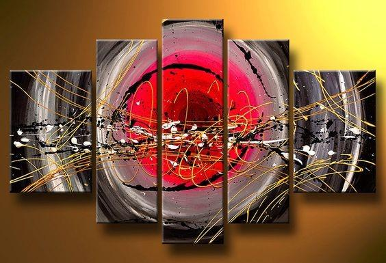Abstract Painting, Canvas Painting Set, Extra Large Wall Art, Acrylic Art, 5 Piece Wall Painting