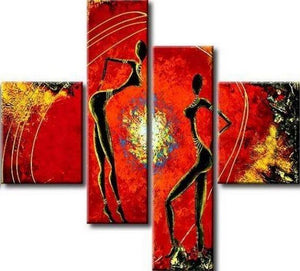 Large Wall Art, Modern Art, Abstract Figure, Art Painting, Canvas Painting