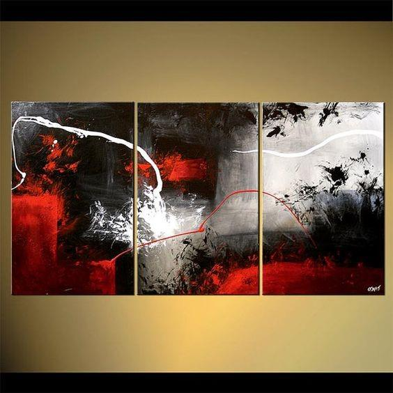 Abstract Art, Black and Red Abstract Painting, Canvas Painting, Abstract Art for Sale - Art Painting Canvas
