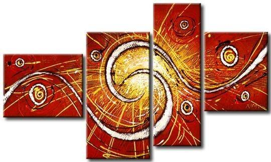 Red Abstract Painting, Living Room Wall Art, Extra Large Painting, Large Artwork